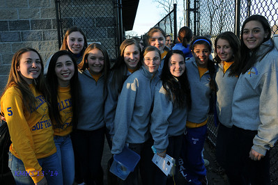 Girls Var Softball Benefit for Mrs. Walsh 4-5-14MrPlevritis